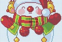 Cross stitch - Snowman patterns