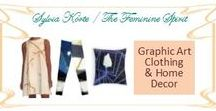 Graphic Art Clothing & Home Decor / Art transformed into clothing, accessories, home decor, totes, journal covers, notebooks, cards, & more! Available through red bubble. http://www.redbubble.com/people/femininespirit/portfolio?asc=u