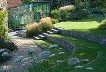 nivåer i trädgård