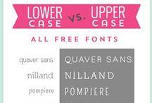 Web fonts & designs