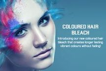 AMR Coloured Bleach / Coloured Bleach comes in Pink, Purple, Red and Blue and can be purchased from www.amrhair.com.au or by calling 1300 789 913