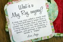:: Quilted Mug Rugs, Pot Holders, Table Mats, Coasters & Coffee Cozies ::