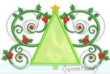 Christmas / Holly, Jolly Christmas designs by www.lynniepinnie.com