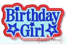 Birthdays / Birthday Applique and Embroidery Designs