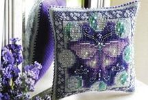 :: Cross Stitch Biscornu, Scissor Keeper & Needle Roll ::