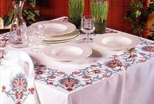 :: Cross Stitch Tablecloth ::