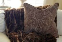 Pillow Decor / Pillows add so much to a room. They speak volumes- love, warmth, seasonal, a great personal touch. You don't have to be an interior designer.. go with what you love.
