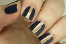 Dark nail art (Black Grey)
