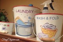 Cans and Basket Decor / We all need extra storage~the perfect place to put so many items from cluttering the house