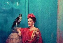 Frida Kahlo - Artist, Icon, Rebel / Magdalena Carmen Frieda Kahlo y Calderón was a Mexican painter who is best known for her self-portraits. Kahlo's life began and ended in Mexico City, in her home known as the Blue House. Her work has been celebrated in Mexico as emblematic of national and indigenous tradition and by feminists for its uncompromising depiction of the female experience and form. / by Aum