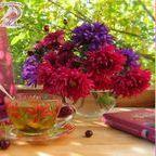 Палитры цветов / Палитры цветов для вышивки декоративными стежками; палитра; сочетание цветов