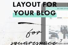 Website design / Tips and tricks for squarespace, blogging, layouts for social media and website design