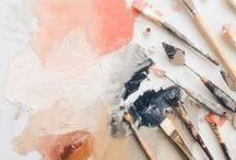 artsy / typographies | works with a brush | colours | canvases / by Brittany Charis