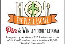 "The Plate Escape Sweepstakes / The #PlateEscape ""Foodie"" Getaway Sweepstakes! Enter July 22-July 27, 2013! Pin and win a $10 Restaurant.com eGift Card and a chance to go on the ultimate ""Foodie"" Getaway worth $1,500!  To Enter: http://www.restaurant.com/socialcontest/theplateescape / by Restaurant.com"