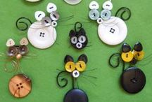 """Buttons and collecting / This board is dedicated to my """"gathering"""" nature. Primarily, I  collect dolls, miniatures, buttons and assorted curiosities."""