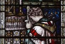 Galahad and the Grail in Church Windows