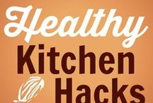 "Healthy Kitchen Hacks / Healthy Kitchen Hacks is our weekly series (posted every Wednesday on TeaspoonofSpice.com) We share fellow bloggers' and our own favorite cooking shortcuts, kitchen tricks and ""aha"" ideas for making healthy meals a snap. #healthykitchenhacks"