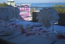 Santorini Wedding-Santorini Wedding Reception / Sky Lounge Santorini Wedding Reception-Wedding Reception in Santorini-Santorini Wedding Restaurant-We're pleased to offer our Restaurant in Kamari,Santorini to host  your Wedding Reception, pre-Wedding parties and other personal events up to 60 guests. For organised groups, the restaurant is able to tailor a comprehensive package including food, drinks and of course, live entertainment – all with a first class service and friendly staff to make you feel cosy and spend moments to remember.