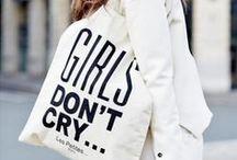 "GIRLS DON'T CRY / Le shopping bag ""Girls Don't Cry""par Les Petites..."