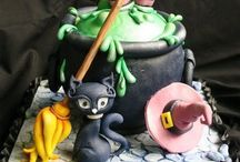 Halloween cake, cookies, cupcakes