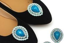 Fancy Gemstone Shoe Clip
