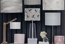 ~ L a m p s h a d e s ~ / Lampshades made to order in all linens by Zoe Glencross Fabric & Home