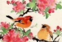 """Feathered friends / """"I'd rather learn from one bird how to sing than to teach ten thousand stars how not to dance."""" e.e.cummings  / by Linda S"""