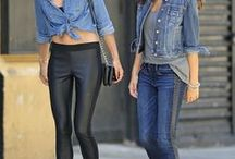 Women's Denim Inspiration / Women's denim details and inspiration. Find your #denim swag here. Jeans, dresses, jackets and everything denim.