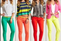 Colored Denim / Colored denim inspiration in every color of the rainbow for men & women.