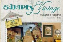 Simply Vintage #11 / magazine completely dedicated to the Vintage Spirit.  The Best of the Country, Folk Art and Vintage Style !   http://www.quiltmania.com/simply-vintage-magazine.html