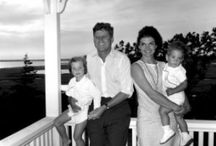 Pres. Kennedy with family