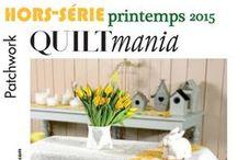 QUILTMANIA Hors-série Printemps 2015 / Spring 2015 / http://www.quiltmania.com/organisation/la-boutique.html?type_produit=HS