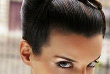 summary hair shiny / sleek glossy up hair
