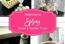 home and garden tours / Tour Real Homes and Gardens, get tips and sources. Bloggers share here.