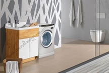 """ALEXANDER 18"""" and 24"""" Modern Laundry Room Sink Cabinet - Utility Slop Tub / ALEXANDER Modern Laundry Room Sink Cabinet - Utility Slop Tub"""