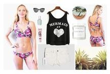 Swoon Bikini Outfit Inspirations / Outfit inspirations for boating, beaching, swimming & sunning.