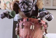 ogros / figura en porcelana en frio, realizado a mano por miomos