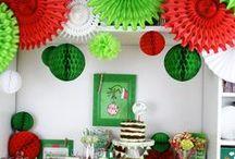 The Grinch| Party | Ideen / Viel mehr als ein Film oder das beliebte Kinderbuch. Feiert eibe ausgelassene Grinchparty in rot und grün