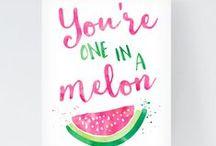Wassermelone| diy / Wassermelonen-Party Idern und Rezepte