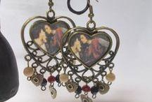 Medieval inspired earrings / Brincos de inspiração medieval / Brincos feitos à mão / Craft earring