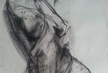 art / Drawing / charcoal / Nude Figures