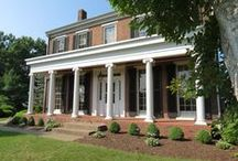 """The Samuel Brownlee House / The Samuel Brownlee House, which was built in 1848, is on the National Register of Historic Places. It was described by a local historian as a """"jewel in the preservation crown of Washington County"""" and by a regional historian as """"one of the best preserved and well maintained formal Georgian-Greek Revival Houses in Washington County."""""""