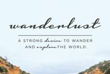 Wanderlust / Bucket list of places to visit!
