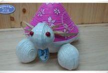Tortuga Joyero diseño floral / ENCARGO. Tortuga joyero para una preciosa niña llamada Coral, diseño floral.  Saludos a todos y gracias por estar ahí. #CaprichitosdePapel   #TortugaJoyero   #LaLíneadelaConcepción