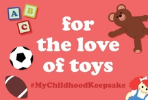 My Childhood Keepsake / We're sharing our biggest (and cutest) inspiration for the love of toys! Our teddies, blankies, and dolls have been our tried and true friends and now we're showing them off in appreciation. Follow our board and we'll invite you to post your childhood keepsake and share in the memories with the hashtag #MyChildhoodKeepsake.  Happy Pinning!