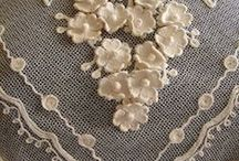 embroidery / lace / buttons / by Cristina Adam