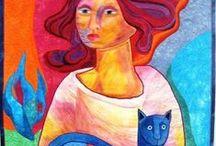 Koty w sztuce / by Anna Alochna