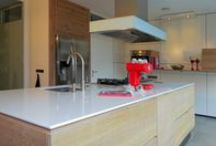 MAATWERK - KEUKENS / Een op maat gemaakte keuken behoort ook tot de mogelijkheden van Cespo. U ziet hier enkele voorbeelden.
