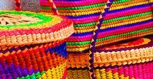 Oaxaca Colors and Designs for Home / Bright and colorful mexican and south western designs and decor ideas. Pillows, textiles and photos from the Oaxaca area.