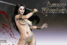 Age of Barbarian - sword & sorcery videogames / In a world where reality blends with dreams, an ancient revolting and unmentionable evil has woken up, bringing with it death and chaos. Only courage, force and steel can bring back order.